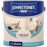 Johnstones No Ordinary Paint Water Based Interior Soft Sheen Emulsion Classic Cream 2.5 Litre