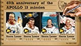 Sierra Leone - 2015 Apollo 13 Anniversary - 4 Stamp Sheet - SRL15611a