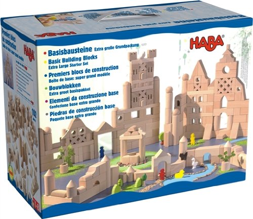 Haba Toys Basic Building Blocks, XLStarter Set (102 pieces)