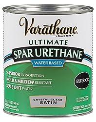 Rust-Oleum VARATHANE Water-Based Spar Urethane for Exterior Furniture & Wood Polish, 946 ml, SATIN Finish
