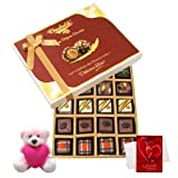 Savoury Indulgence Gift Box With Teddy And Love Card - Chocholik Belgium Chocolates