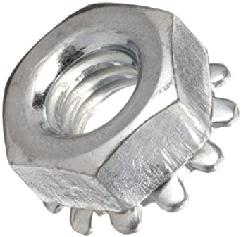 Zinc Plated Steel Hex Nut with Washer