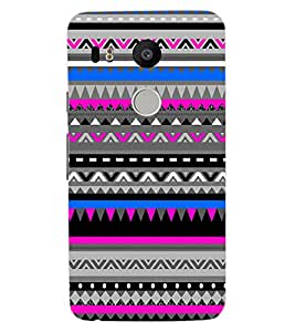 ColourCraft Tribal pattern Design Back Case Cover for LG GOOGLE NEXUS 5X