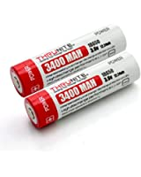 2 x 3400mAh Li-Ion ThruNite 18650 batterie ricaricabili 3,7 V Protetta (NCR18650B_X2 Panasonic Li-Ion batteria 7A PCB)
