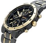 Seiko Men's SNAA30 Alarm Chronograph Black Ion Watch