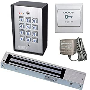 waterproof digital keypad door entry set with 600lbs magnetic loc. Black Bedroom Furniture Sets. Home Design Ideas