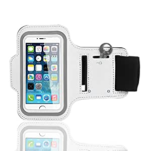 Brassard Armband Sport Bingsale pour Iphone 5S 5C 5 blanc