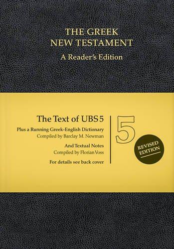 UBS5 Greek New Testament, Reader's Edition (Greek Edition)