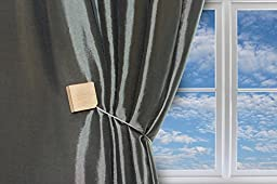 Magnaclips Quadra Curtain Clips, Tiebacks, or holdbacks Set of 2 | No Tools Required