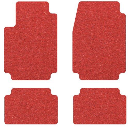 2010-2015 Chevrolet Camaro 4pc Black Carpet Floor Mats w Red RS Logo on Fronts