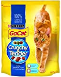 Go-Cat Crunchy and Tender Salmon, Tuna and Vegetable Dry Cat Food 800 g (Pack of 4)