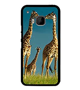 printtech Giraffe Africa Jungle Back Case Cover for HTC One Hima
