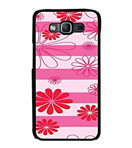 iFasho Modern Art Design animated cloth Pattern of flower Back Case Cover for Samsung Galaxy E5