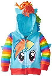 My Little Pony Toddler Girls\' Rainbow Dash Hoodie, Blue/Multi, 4T