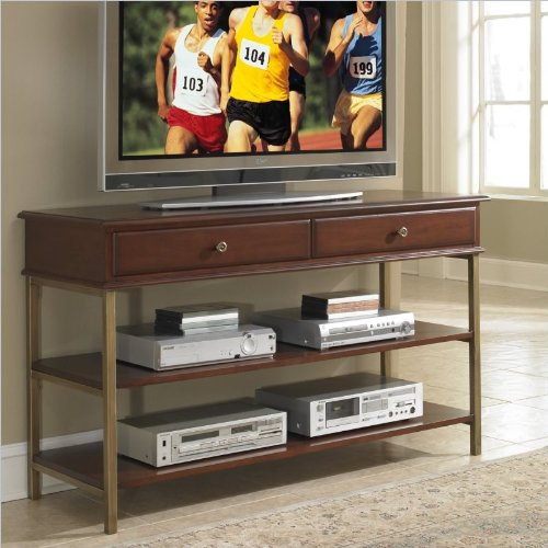 Home Styles 5051-06 St Ives Media Tv Stand, Cinnamon Cherry Finish