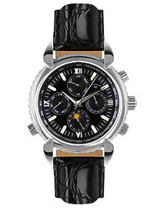 André Belfort 410024 - Reloj analógico de caballero automático con correa de piel negra - sumergible a 50 metros