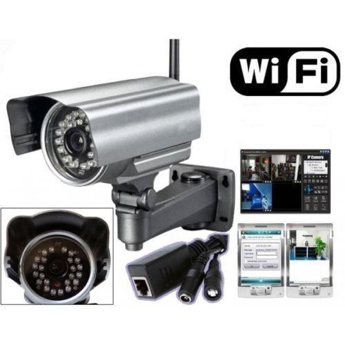IP Camera Telecamera Wireless x Esterno WIFI Videosorveglianza Notturna IPCAM 11