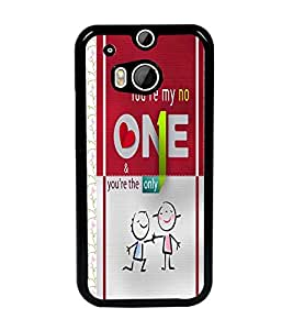 PrintDhaba Quote D-4311 Back Case Cover for HTC ONE M8 (Multi-Coloured)