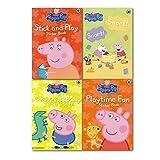 Ladybird Peppa Pig 4 Sticker Books Collection Set, (Peppa pig Stick and Play sticker Book, Peppa Pig Snort! Snort! Sticker Activity, Peppa Pig George's Birthday Sticker Story and Peppa Pig Playtime Fun Sticker Book