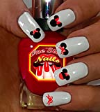 Disney Minnie Mouse Bow Nail Art Decals. Tattoo Nail Decal Set of MB001-74 by One Stop Nails