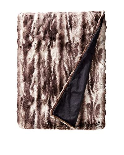 Fabulous Furs Couture Edition Faux Fur Throw, Charcoal Mink