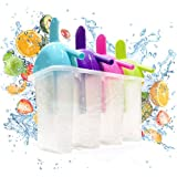 The Friendly Yeti Ice Pop Molds for Frozen Fruit Popsicles and Smoothies. BPA-Free Plastic With Drip Free Handle and Slurper Straw
