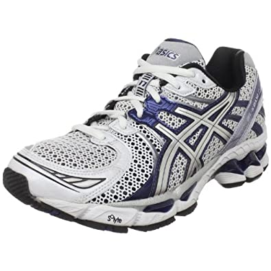 ASICS Men's GEL-Kayano 17 Running Shoe,White/Lightning/Navy,11.5 M