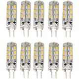 10ST energiesparende G4 DC 12V 1,5 w 24 3014 SMD LED Lampen-LED Lampen leuchten (warmweiß)