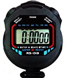 Premium Sports Stopwatch - Water Resistant, Large Display • with Date, Time and Alarm Function • Ideal for Sports Coaches and Referees