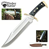 Timber Rattler Western Outlaw Bowie Knife