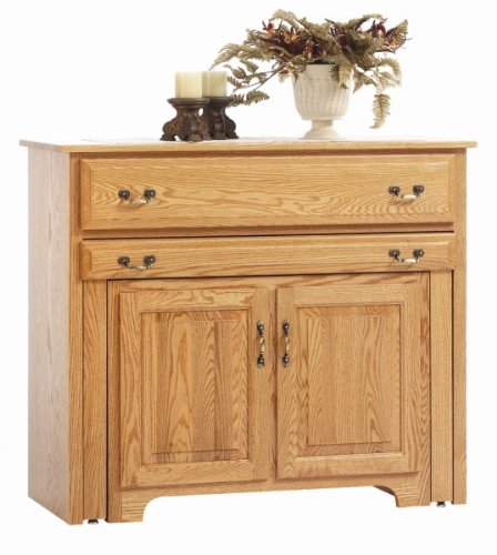 Buy Low Price Amish Furniture House Amish USA made – Console Buffet with Pullout Table – 8-POC201B (B004I5FHPQ)