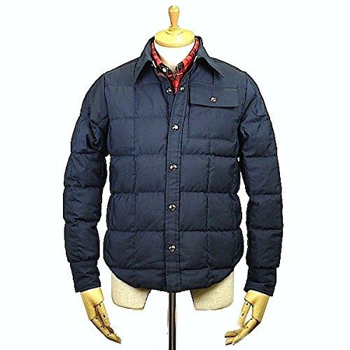 CRESCENT DOWN WORKSクレセントダウンワークス Down Shirt 60/40 Cloth Navy x Burgundy ダウン シャツ ダウンジャケット サイズS