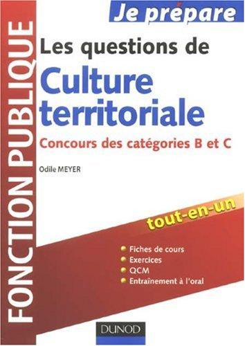 Les questions de Culture territoriale : Concours des catégories B et C