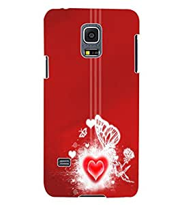 ColourCraft Loving Heart Design Back Case Cover for SAMSUNG GALAXY S5 MINI