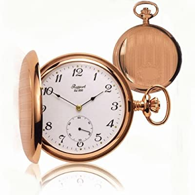 Rapport Pocket Watch PW82 Rose Gold Plated Full Hunter
