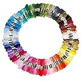 SODIAL(R) 150 echevettes de fil multicolore pour point de croix broderie...