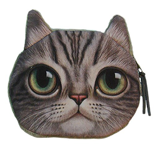 Junda コイン財布 ミニポーチ 小銭入れ 財布 可愛い 猫顔