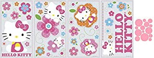 Hello Kitty Floral Boutique Peel & Stick Wall Decals and Mini Polka Dots Bundle Makeover Kit