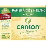 Canson 200001108 Pochette à grain 24 x 32 cm Blanc