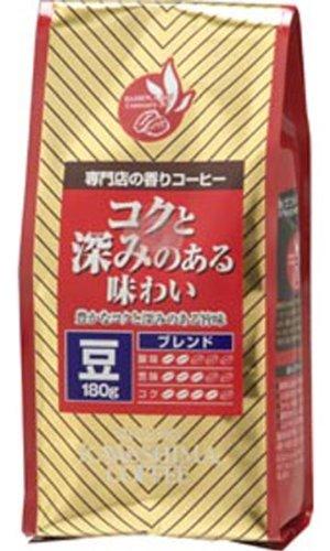 コーヒー乃川島 専門店の香りコーヒーコクと深みのある味わい (豆) 180g×12個