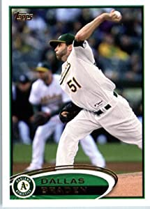 2012 Topps Baseball Card # 577 Dallas Braden - Oakland Athletics - MLB Trading Card