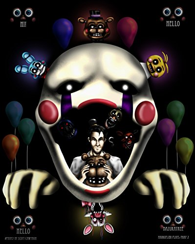 """Bas - Stampa decorativa dal videogioco """"Five nights at Freddy's"""""""