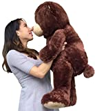 Big Plush Large Teddy Bear Three Feet Tall Brown Color Soft Smiling Big Teddybear