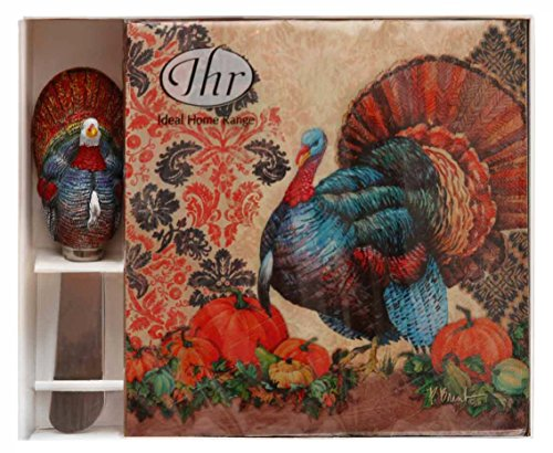 Ideal Home Range Napkin and Spread Hostess Gift Set, Damask Turkey