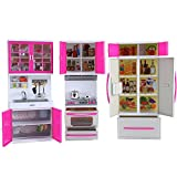 "My Modern Kitchen Mini Toy Playset W/ Lights And Sounds, Perfect For 11-12"" Dolls"
