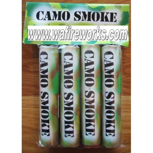 Amazon.com: Camo Smoke Stick - White (4pack)