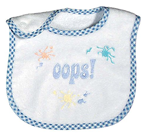 Raindrops Embroidered Bib, Oops
