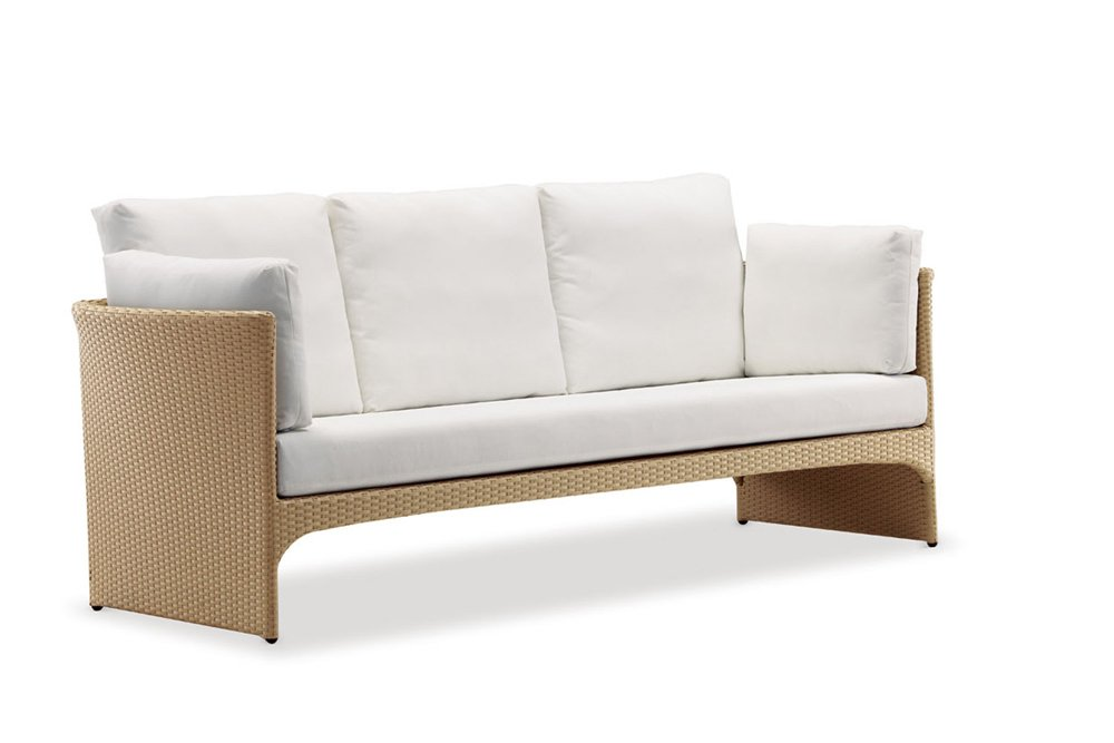 100Essentials 8006221 (Wick-Choc-DkBr)-(Cush-Tusca) Cerise Sofa with Cushion - Tuscan