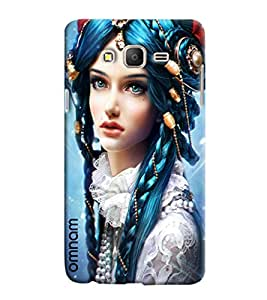 Omnam Beautiful Girl In Blue Hair Printed Designer Back Cover Case For Samsung Galaxy On 7