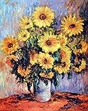 Claude Monet Sunflowers Art Print Poster (16x20)